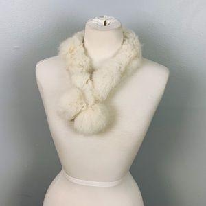 Vintage Mini Rabbit Fur Scarf